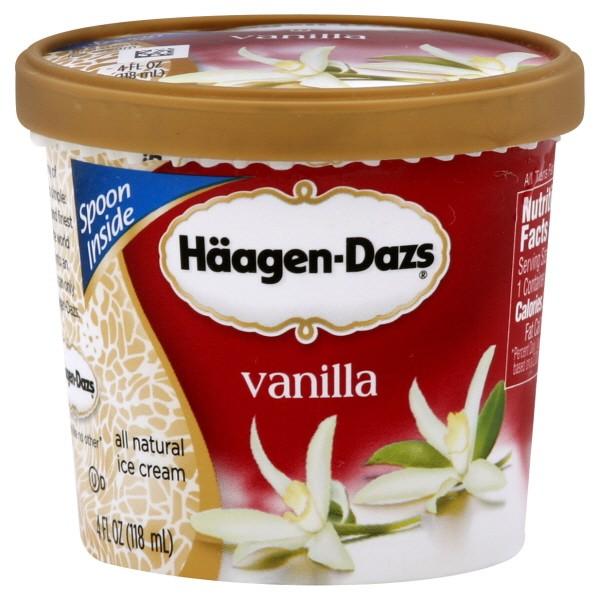 haagen dazs ice cream single serve)